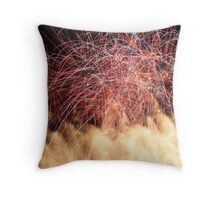 Bank Of Fireworks Throw Pillow