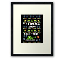 Ugly Christmas Sweater - This Holiday Season Give Tanks! Framed Print