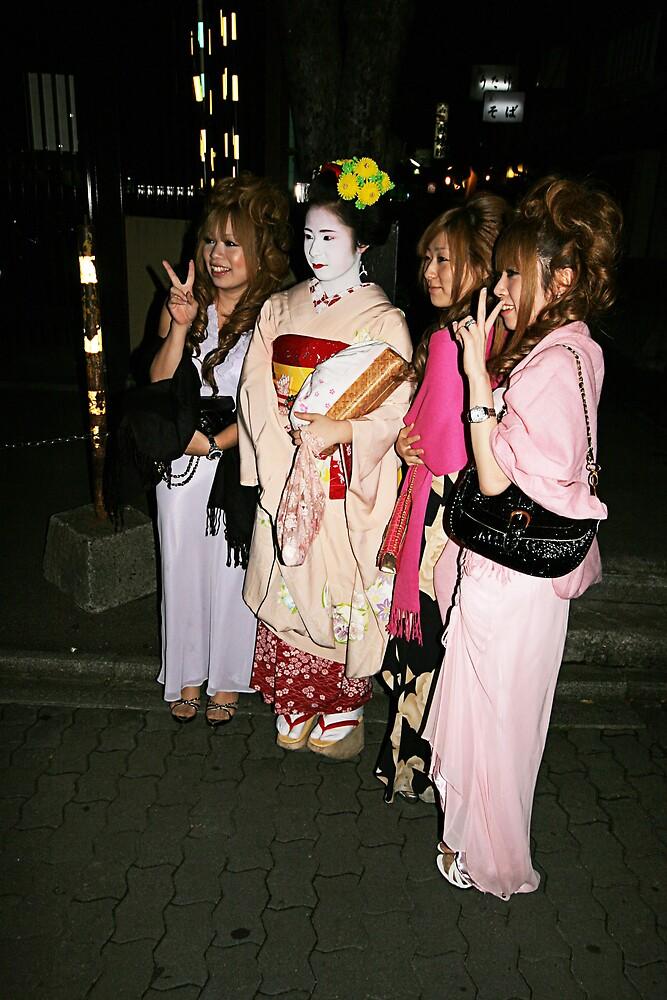 Geisha Pontocho Alley - Kyoto by Trishy