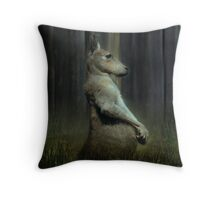 Portrait of a Kangaroo Throw Pillow