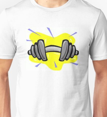 Cur Bar with Weights Unisex T-Shirt