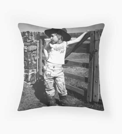 Daddys Boots Throw Pillow