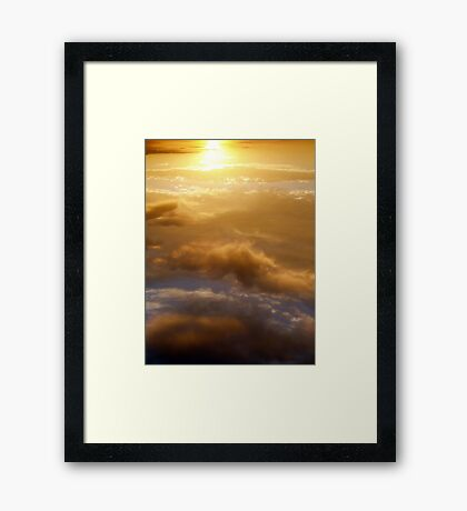 to transcend glory Framed Print