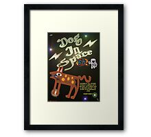 Dog In Space T-shirt Design Framed Print