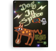 Dog In Space T-shirt Design Canvas Print