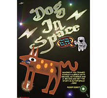 Dog In Space T-shirt Design Photographic Print