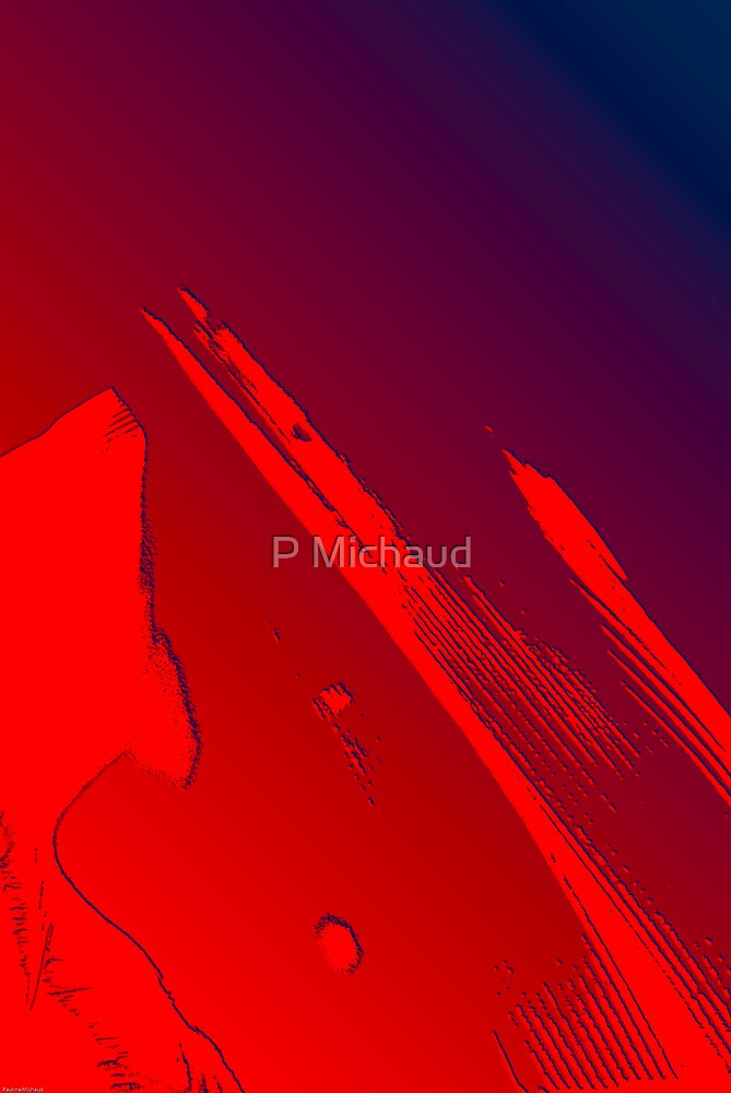 red abstract by P Michaud