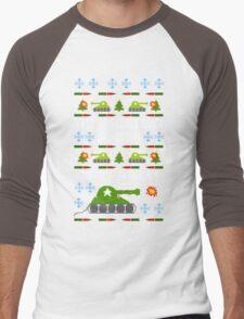 Ugly Christmas Sweater - This Holiday Season Give Tanks! Men's Baseball ¾ T-Shirt