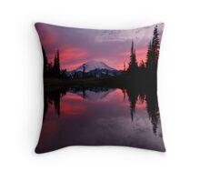 Red Sky at Night Throw Pillow