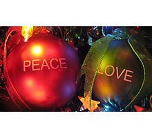 peace n' love Photographic Print