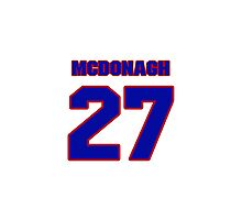 National Hockey player Ryan McDonagh jersey 27 Photographic Print