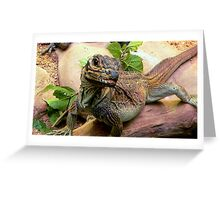 Philippine Sail-Finned Water Dragon Greeting Card