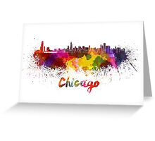 Chicago skyline in watercolor Greeting Card