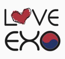 LOVE EXO  typo with falg by cheeckymonkey