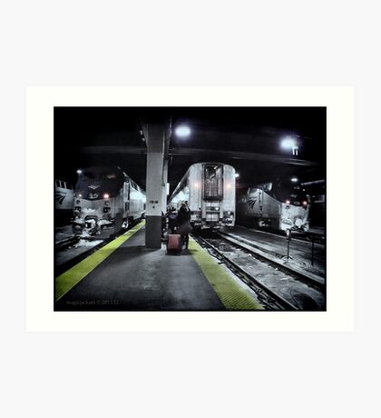 Train Platform - Union Station - Chicago  Art Print