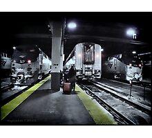 Train Platform - Union Station - Chicago  Photographic Print