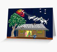 Six white boomers - Santa in Australia Greeting Card