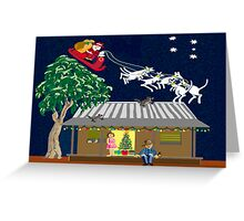 Six white boomers - Santa in Australia Greeting Card