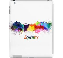 Sydney skyline in watercolor iPad Case/Skin