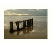 Pearl Morning Sunrise, Raffs Beach Art Print