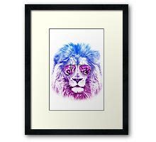 Tackle The Gazzle Says Mr. Lion Framed Print