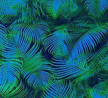 brazil palm tree graphic retro design pattern by Pepe Psyche