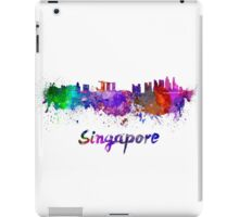Singapore skyline in watercolor iPad Case/Skin