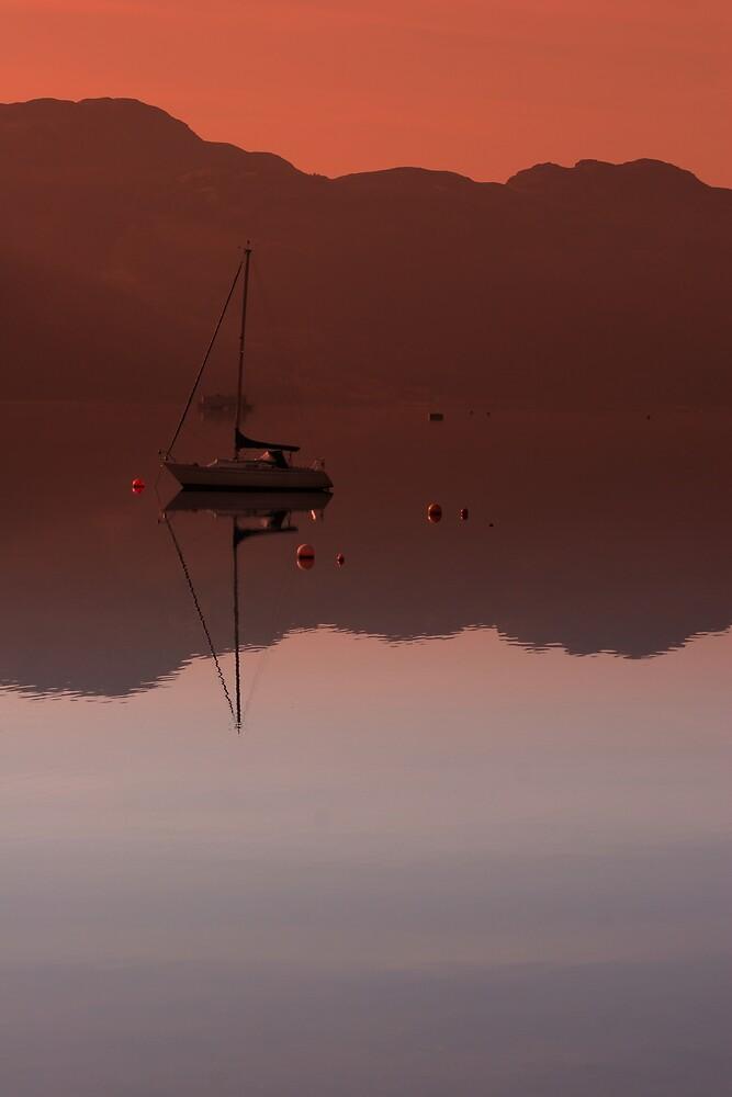 Boat on Loch Goil by Scott Liddell