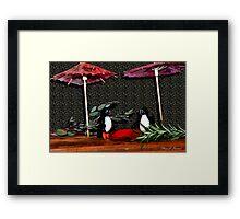 Penguin Romance Framed Print