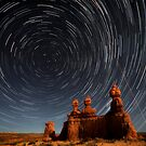 Star trails in Goblin valley by Robyn Lakeman