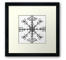 Veldismagn, Icelandic Magical Binding Rune, Protection, Lucky Charm Framed Print