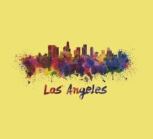 Los Angeles skyline in watercolor Kids Clothes