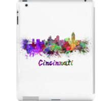 Cincinnati skyline in watercolor iPad Case/Skin
