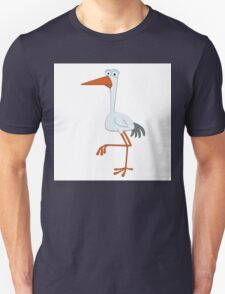 Adorable cartoon stork Unisex T-Shirt