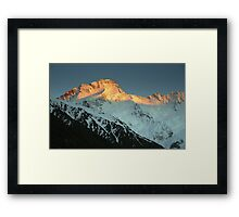 In the Hall of the Mountain King- Mount Sefton at Dawn Framed Print