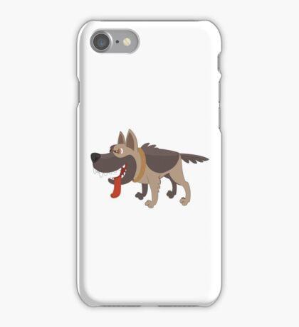 Funny smiling cartoon sheepdog iPhone Case/Skin