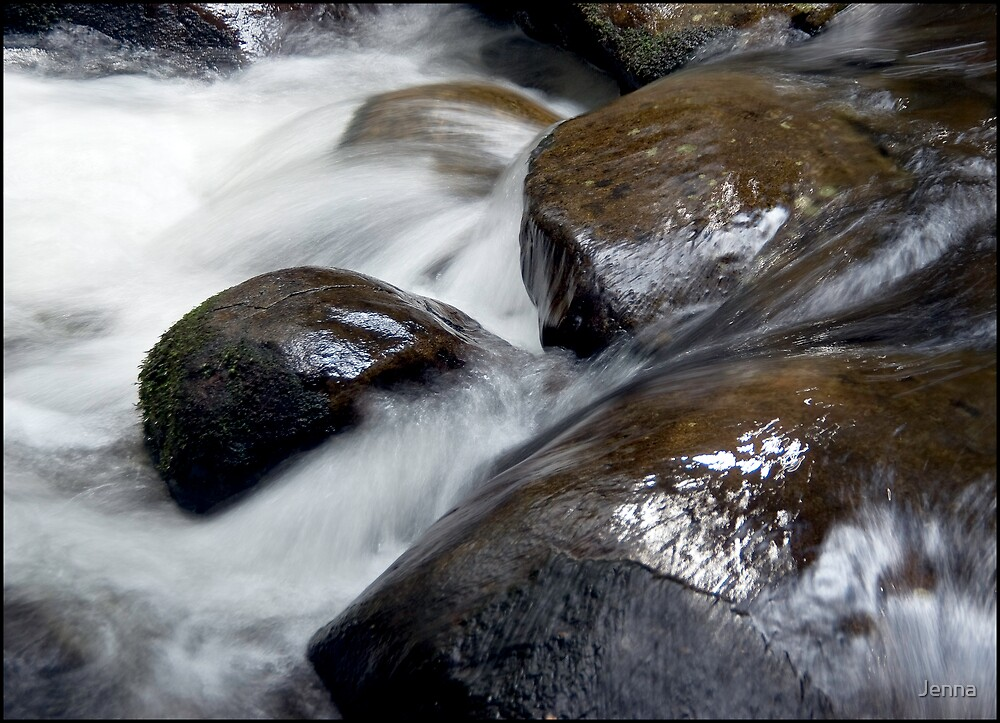 water and rock by Jenna
