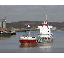 Freighter in the sun ... Photographic Print