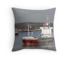 Freighter in the sun ... Throw Pillow