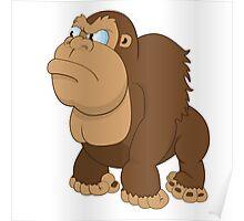 Grumpy cartoon Gorilla Poster