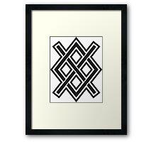 Gungnir, Odin's spear, Rune Gar, Viking, Magic, Protectiv Symbol Framed Print