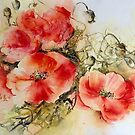 Messy Poppies by Bev  Wells