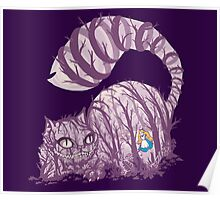 Inside wonderland (cheshire cat) Poster