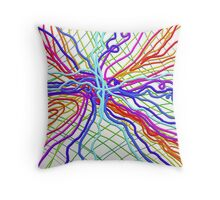 Web of Lies Throw Pillow