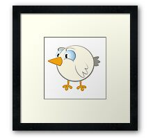 Funny cartoon bird Framed Print