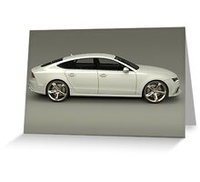 Audi RS7 Greeting Card