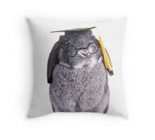 Graduate Bunny Throw Pillow