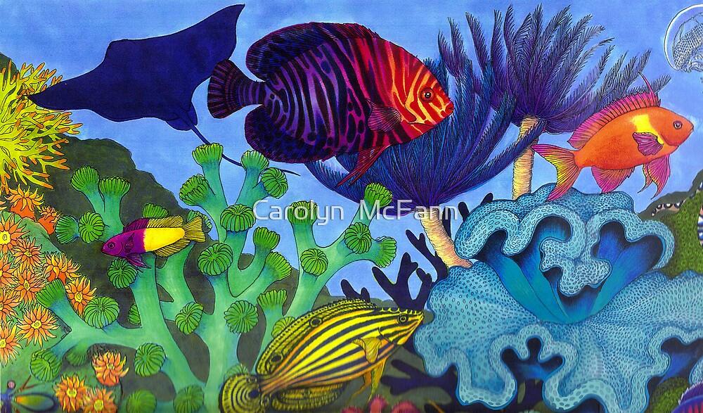 Undersea Life in the Caribbean by Carolyn  McFann
