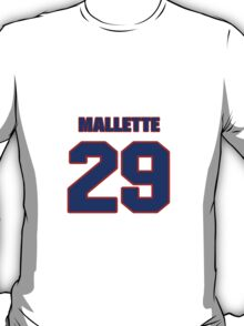 National Hockey player Troy Mallette jersey 29 T-Shirt