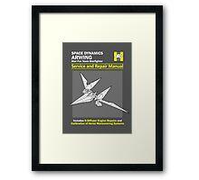 Arwing Service and Repair Manual Framed Print